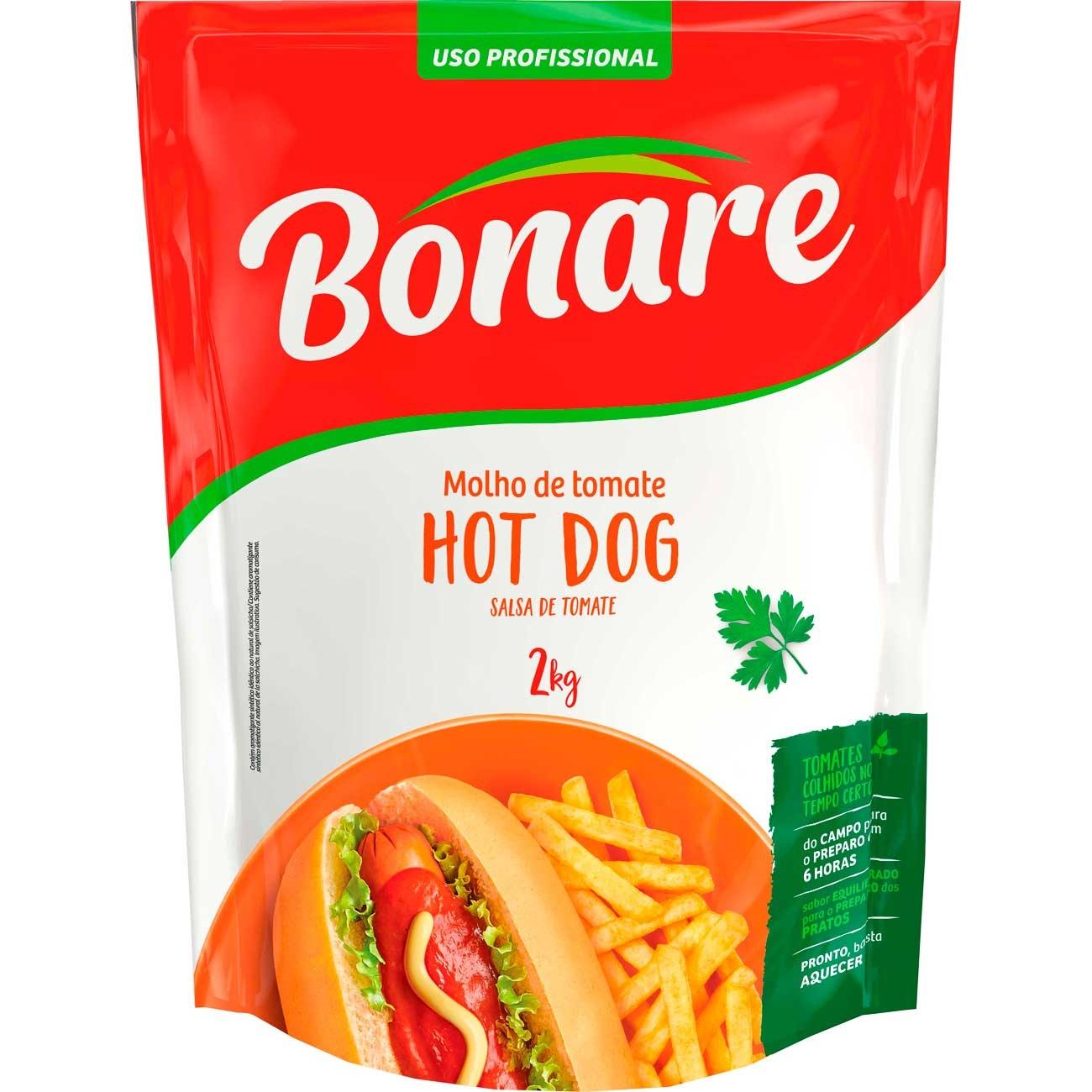 Molho De Tomate Bonare Hot Dog Pouch 2kg