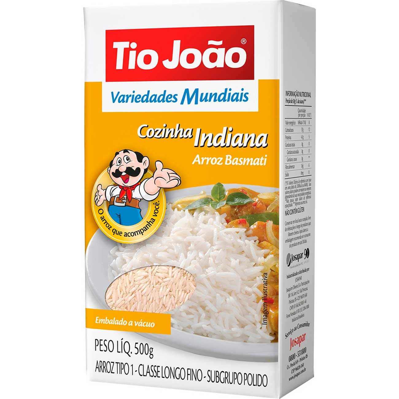 Arroz Tio Jo�o Basmati Tipo 1 500g - Cozinha Indiana