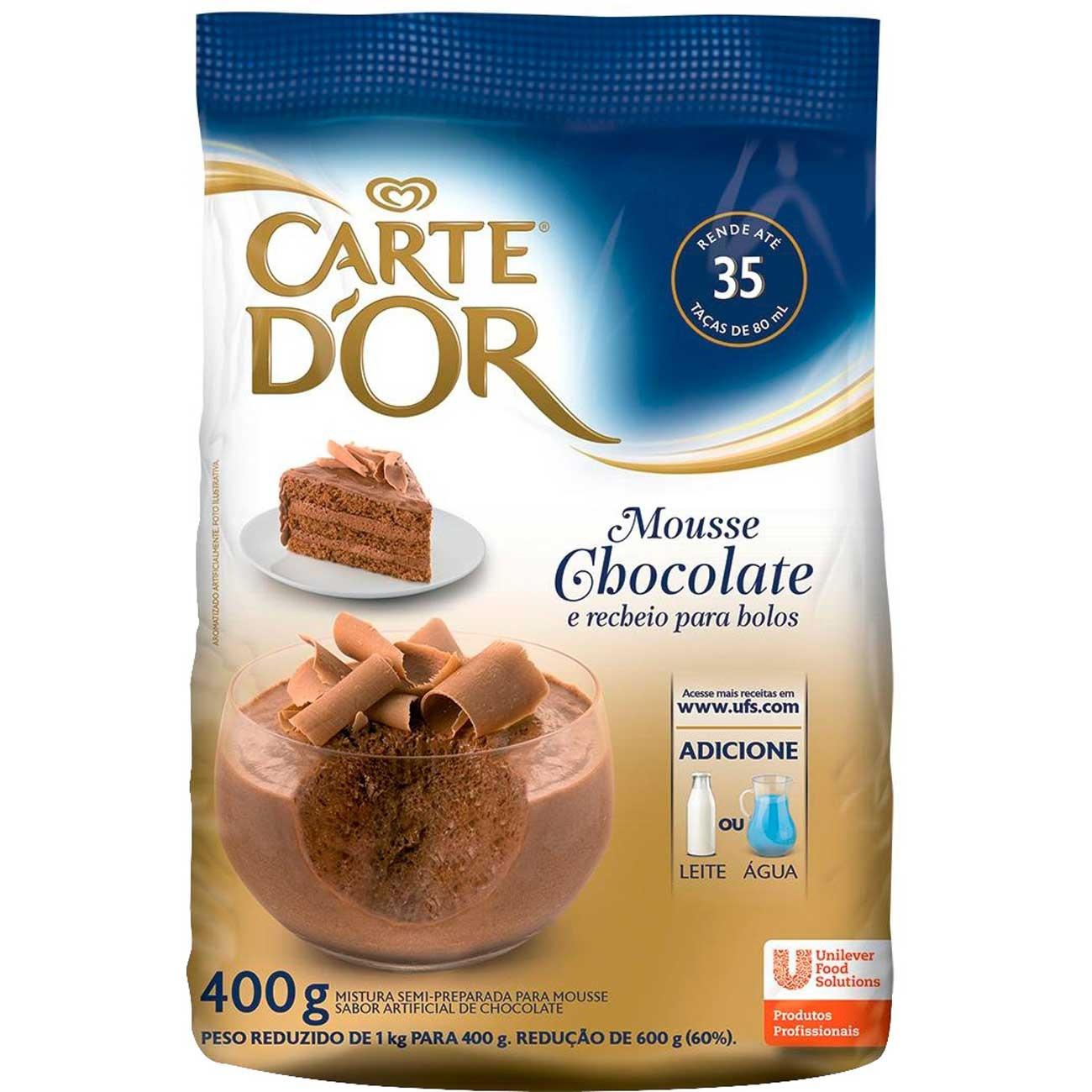 Mousse de Chocolate Carte D'Or 400g