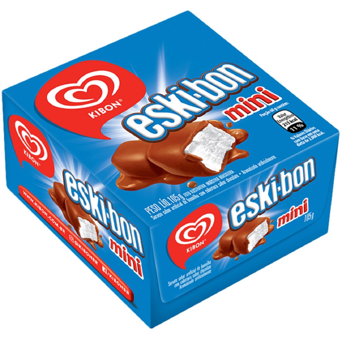 Sorvete Kibon Eskibon Mini Bombom Gelato Classico 92G | Caixa com 12