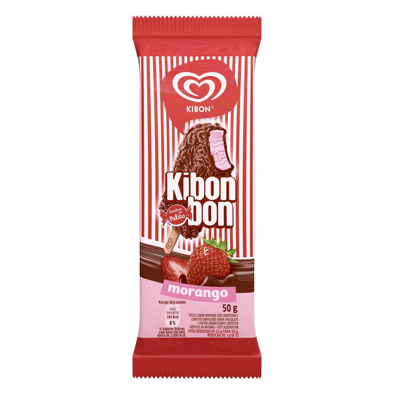 Sorvete Kibon Palito Kibonbon Morango 77ML l Caixa com 20