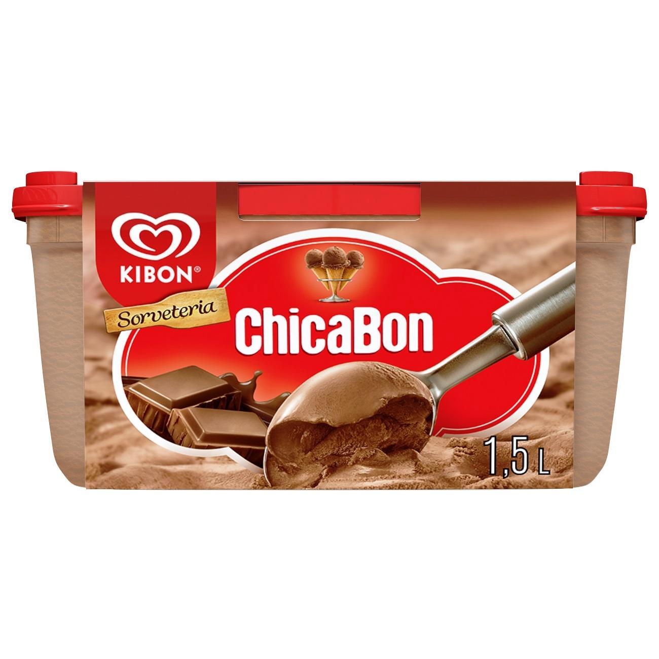 Sorvete Kibon Sorveteria Chicabon 1.3L   Caixa com 4
