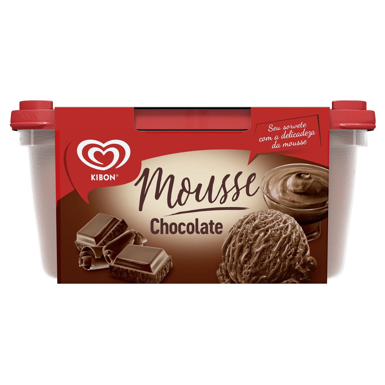 Sorvete Kibon Mousse Chocolate 1,3L | Caixa Com 4
