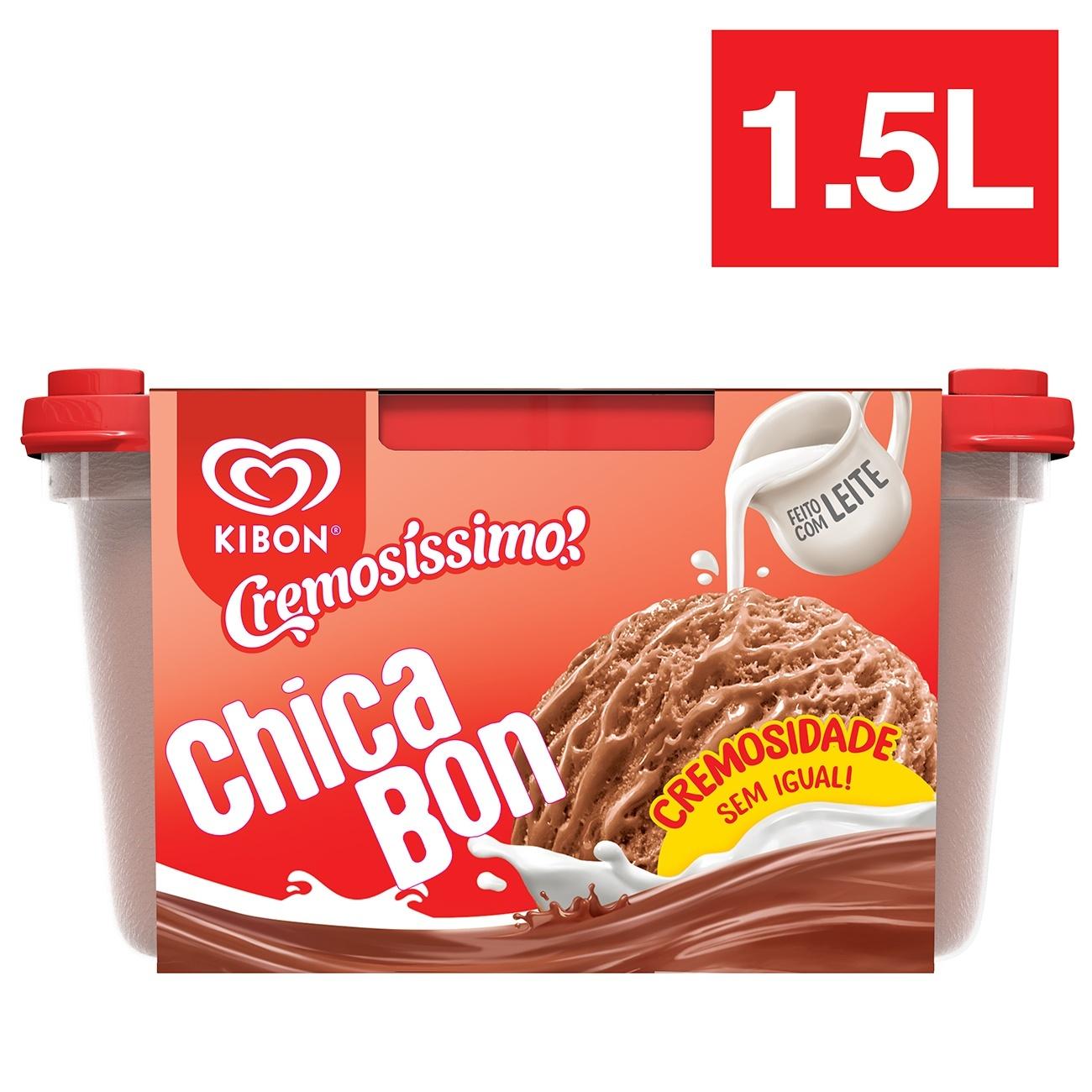 Sorvete Pote Kibon Cremos�ssimo Chicabon 1,5L