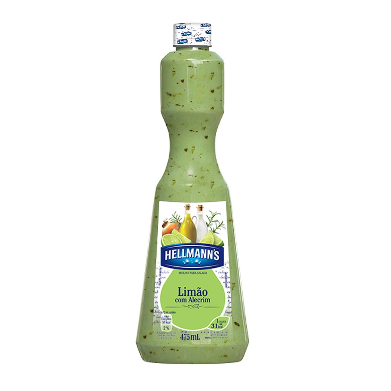 Molho Para Salada Hellmann's Lim�o com Alecrim 475ml