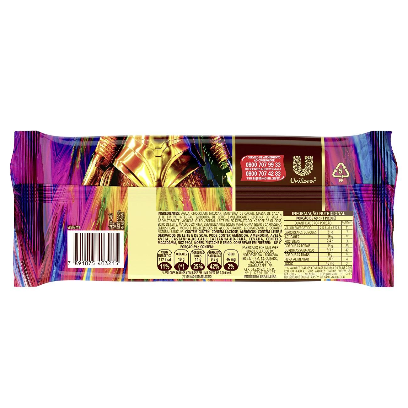 Sorvete Kibon Magnum Picole Classico 100ML | Caixa com 18